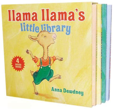 a for llama books llama llama s library by dewdney board book