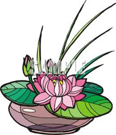 Pink Vase Shallow Water Clipart