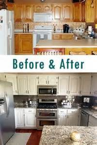 painting kitchen cabinets white before and after 17 best ideas about repainted kitchen cabinets on pinterest painting cabinets oak cabinets