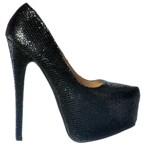 high heels sparkly shoekandi sparkly shimmer glitter high heel stiletto