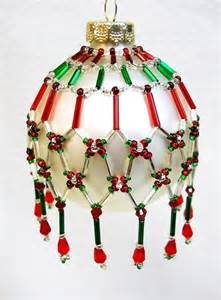 pattern only beaded christmas ornament cover holiday
