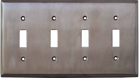 4 light switch cover stainless steel finish 1 duplex switch plates outlet covers