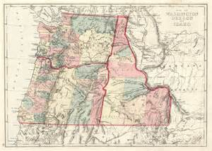 map of idaho and oregon 1875 map of washington oregon and idaho h h hardesty