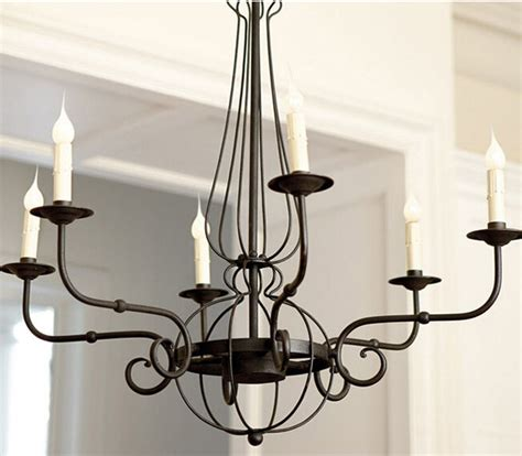 Outdoor Iron Chandelier Antique Iron Art And Candles Chandelier Rustic