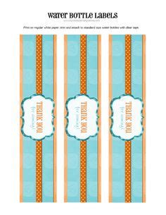 Aqua Water Bottle Wrapper free printable bar wrapper and water bottle labels