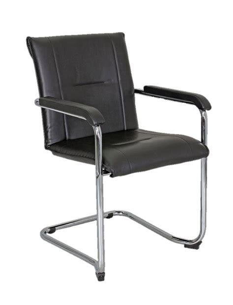 sitz h ngematte mit gestell freischwinger mit armlehnen kunstleder schwarz