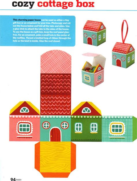 7 Best Images Of Paper House Printable Craft Templates 3d Paper House Cut Out Box House Printable Craft Templates
