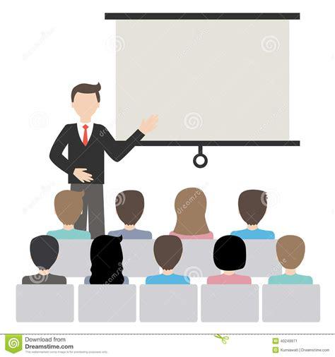 eps format ppt businessman doing presentation vector stock vector