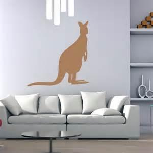 Australian Animal Wall Stickers kangaroo silhouette wall sticker animal wall art