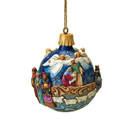 musical egg ornaments from qvc jim shore nativity musical ornament qvc