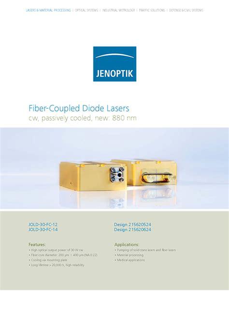 jenoptik laser diodes 938nm 30watt module