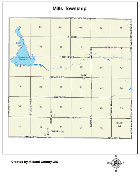 Midland County Records County Of Midland Michigan Gt Equalization Gt Tax Maps Gt Mills Township