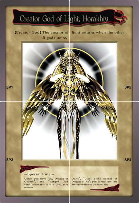 Creator God Of Light Horakhty by Bandai Creator God Of Light Horakhty By Bt Ygo On