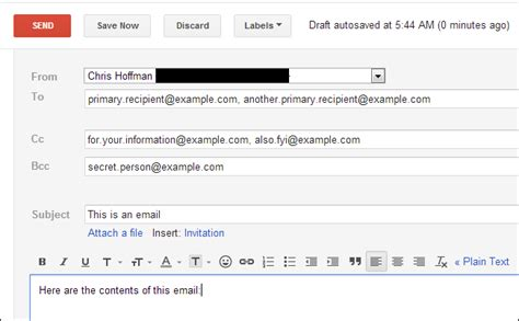 email format cc what s the difference between cc and bcc when sending an