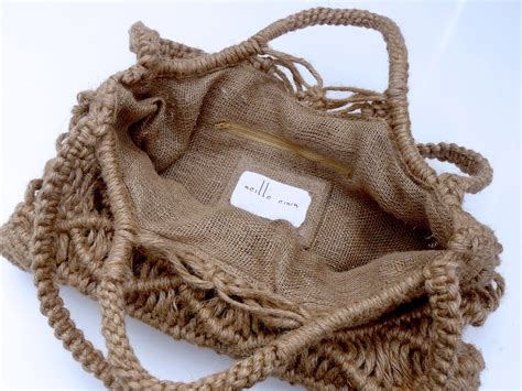 Macrame Shopping Bag - bag handbag tote shoulder purse large macrame new