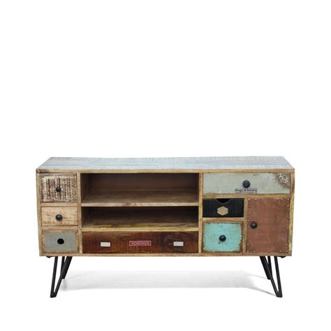 meuble tv vintage en bois fusion by drawer