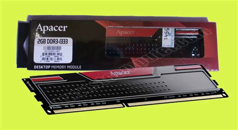 Hp Acer 2gb apacer ddr3 2gb 1333 pc 10600 black panther