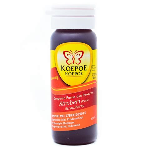 Koepoe Strawberry Pasta 60ml koepoe koepoe food flavoring aroma pasta stroberi 30 ml strawberry breads cakes beverages enhancer