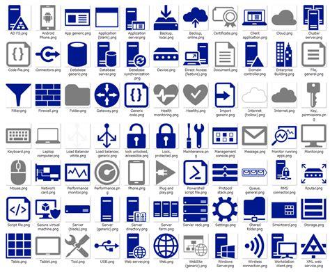 microsoft cloud and enterprise symbol icon set マイクロソフトが提供しているアイコンセットまとめ プログラミング生放送