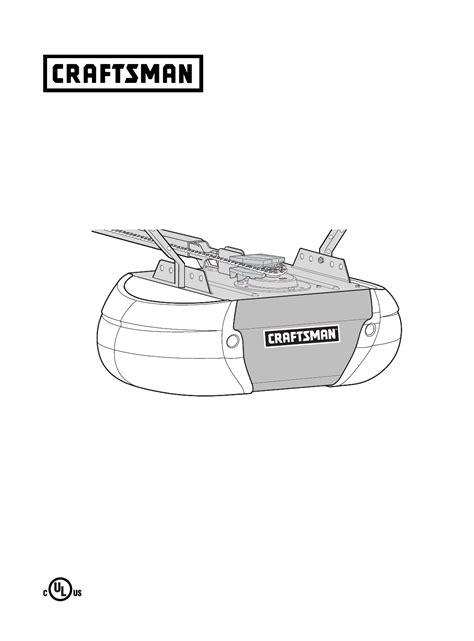 Craftsman Garage Door Opener Manual by Craftsman Garage Door Opener User Manual Manualsonline