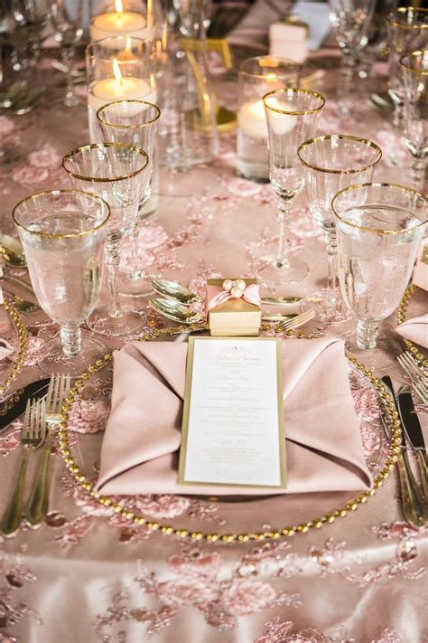 Blush And Gold Wedding Decor by Table Decor Pink And Gold Wedding
