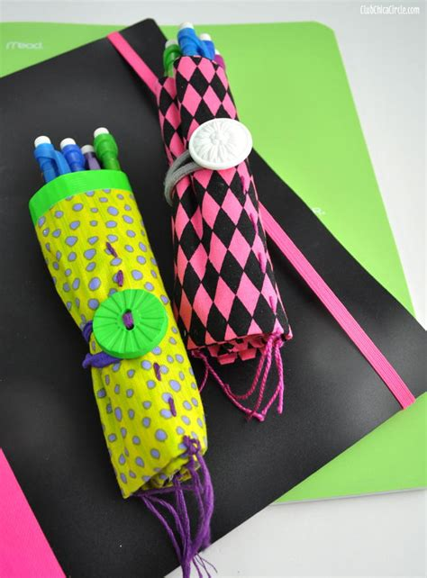 duct tape pencil roll school craft allfreekidscraftscom