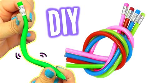 d i y diy bendy pencils make stretchy bendy pencils youtube