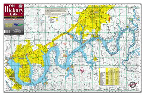 map of hickory nc hickory lake 1730 kingfisher maps inc