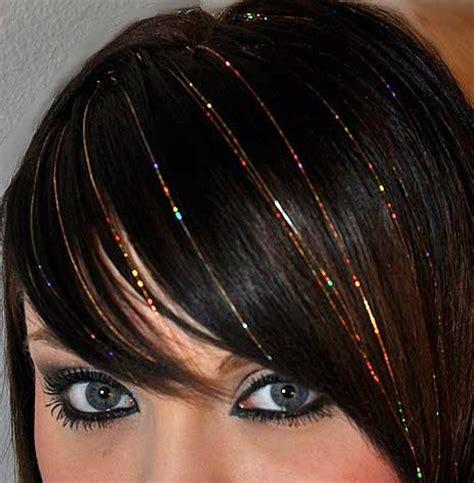 hair tinsel ideas  pinterest diy hair tinsel