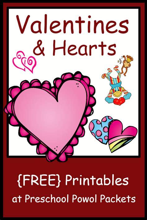 valentines day kindergarten valentines day hearts themed free preschool printables