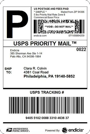 printable priority mail label sle shipping label ilost5in5 com store edi information