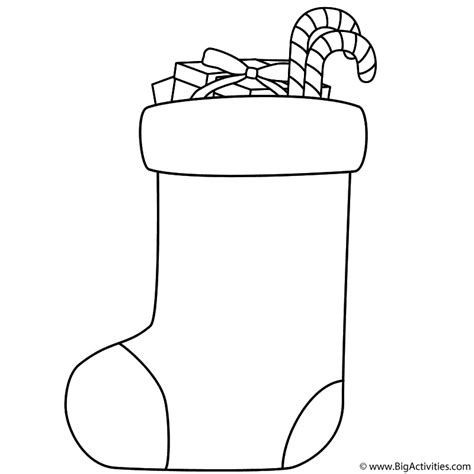 large christmas stocking coloring page stocking filled with candy canes and gifts coloring page