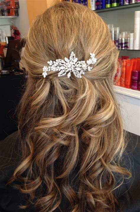image result for half up half wedding hair medium length wedding dress things