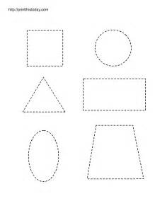 shape tracing templates free printable worksheets with basic shapes for preschool