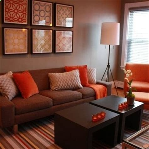 Brown And Orange Home Decor by Living Room Decorating Ideas On A Budget Living Room Brown And Orange Design Pictures