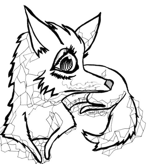 nightmare foxy free colouring pages