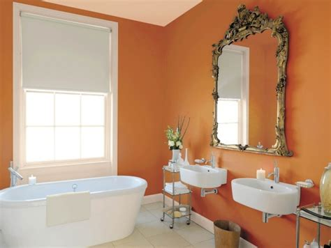 wandfarbe apricot schöner wohnen farbe im badezimmer
