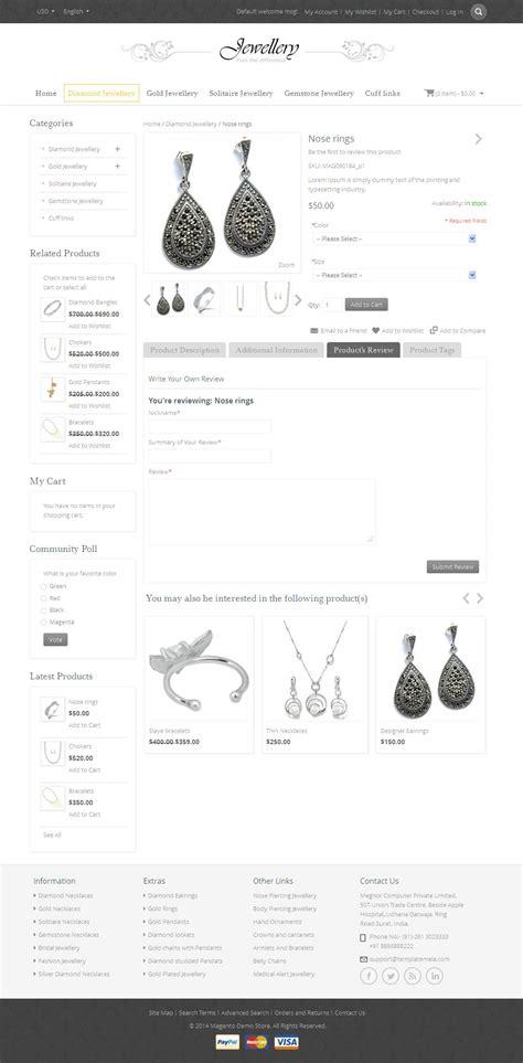 themeforest jewellery jewellery magento responsive template by templatemela
