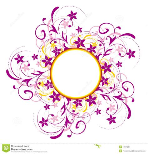 flower pattern in circle flower pattern and circle stock illustration image of