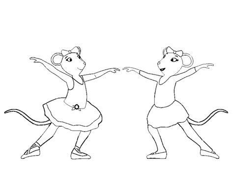 coloring pages of angelina ballerina angelina ballerina coloring page