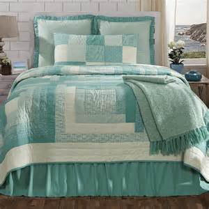 New vhc country cottage sea glass quilt amp sham set twin full queen or