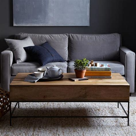 west elm coffee table storage rustic coffee table west elm