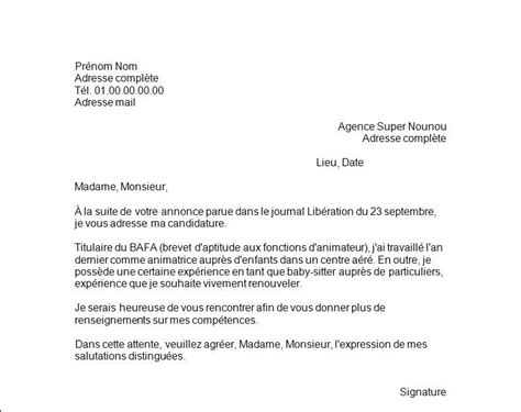 Exemple Lettre De Motivation Lycée Privé Application Letter Sle Exemple De Lettre De Motivation Pour Une Formation Bafa