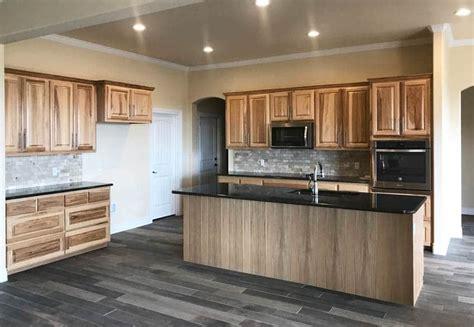 flooring   hickory cabinets designing idea