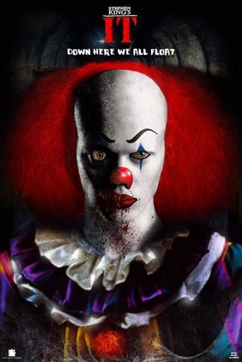 film it clown the first image of stephen king s it arrives from the