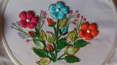 Embroidery Handmade Designs - how to do fancy embroidery stitches simple craft ideas