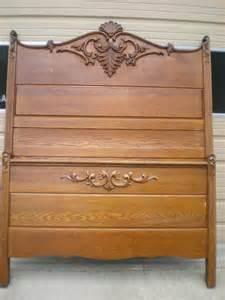 Back Of Bed Antique Oak High Back Bed