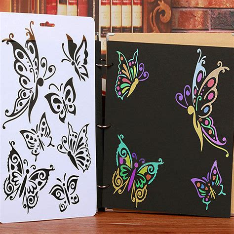 Painting Templates Stencils by New Diy Craft Butterfly Stencils Template Painting