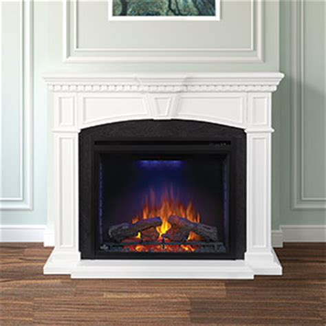 White Electric Fireplace Canada by Electric Fireplace Mantel Package In White Nefp33