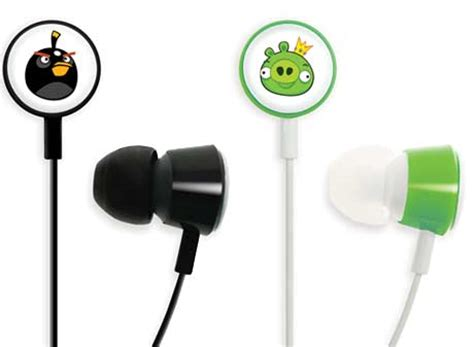 Headset Earphone Headphone Angry Bird An 40 angry birds headphones now up for sale techgadgets